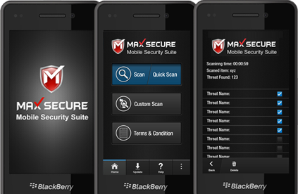 What is Max Mobile Security For Blackberry 10