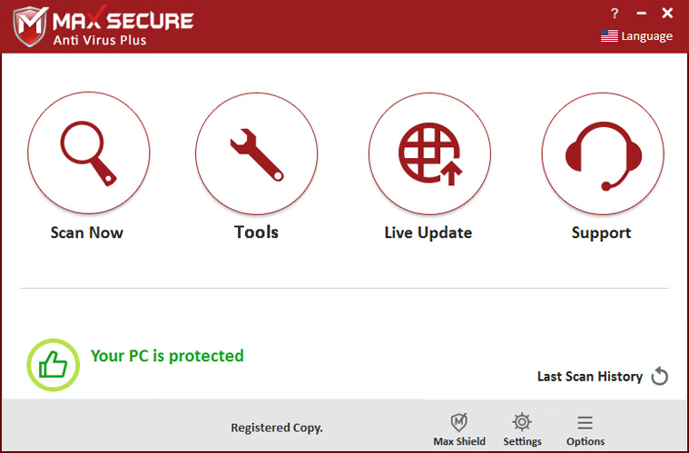 Max Secure Anti Virus Plus World S Lightest Amp Fastest